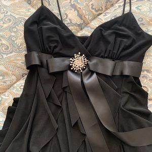 CACHE Black Cocktail Dress, w/Jewel Sz S/6
